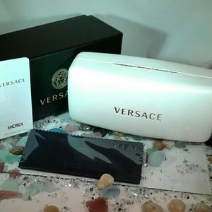 NEW Large VERSACE Clamshell Eyeglass Case